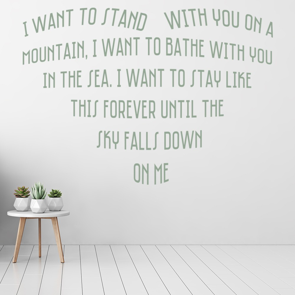 Truly Madly Deeply Savage Garden Wall Sticker
