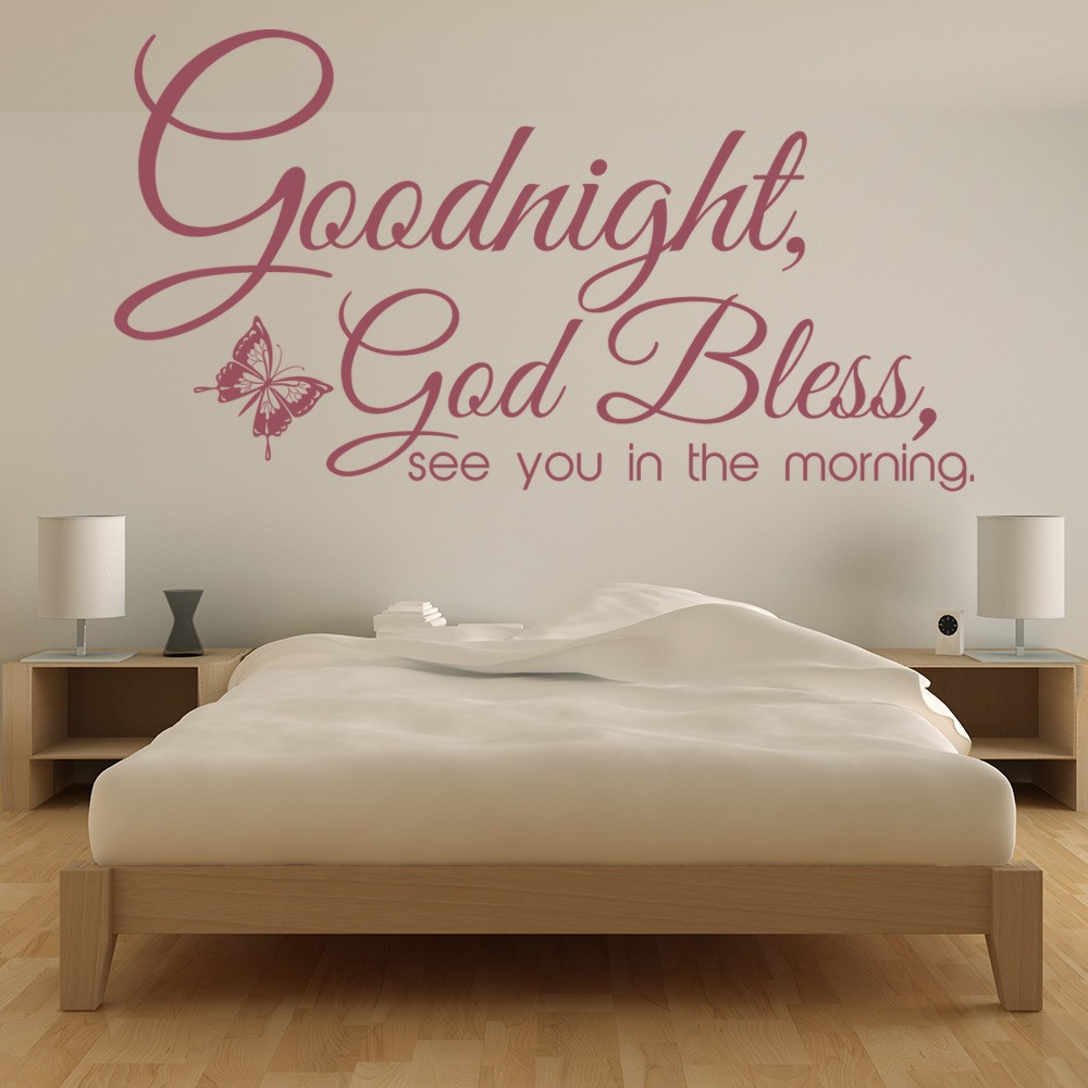 Goodnight God Bless Wall Stickers Religious Wall Art