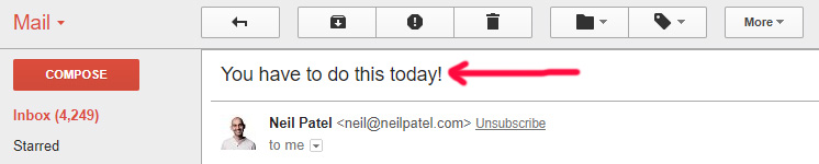Killer Subject Line