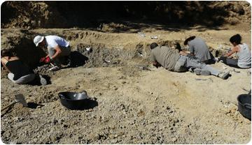 Treballs d'excavació a l'Espinau, setembre de 2012.