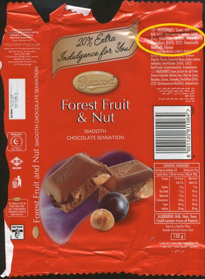 czekolada GMO Modyfikcje Genetyczne
