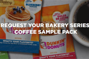 Dunkin' Donuts Bakery Series Coffee Samples