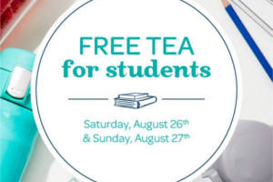 FREE Tea for Students at DAVIDs TEA