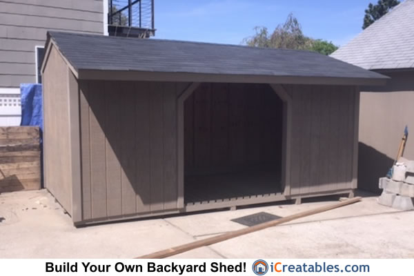 8x16 Firewood Shed Plans Icreatables Com