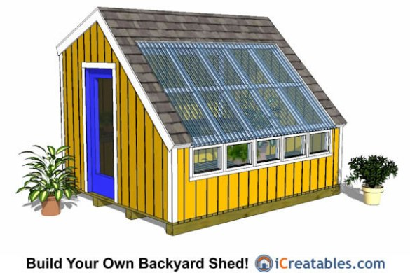 Greenhouse Shed Plans   Easy to Use DIY Greenhouse Designs 10x12 greenhouse shed plans