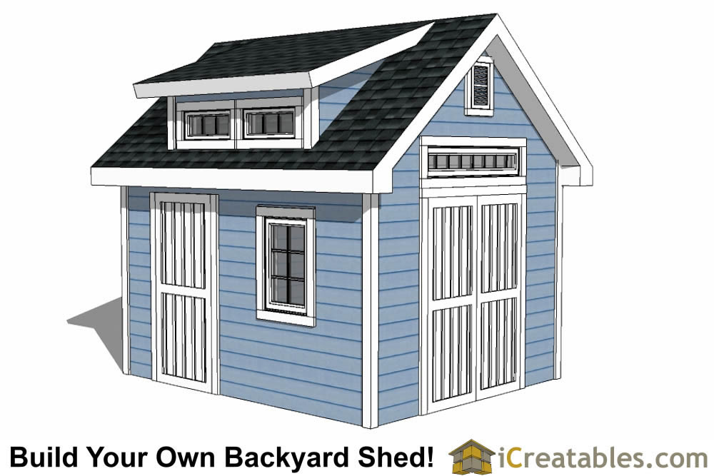 10x12 Shed Plans With Dormer