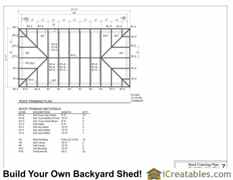 Hip Roof Framing Plan Pdf | Frameswalls.org