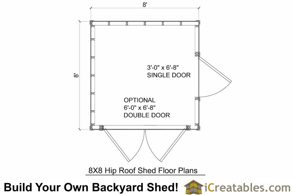 8x8 Hip Roof Shed Plans