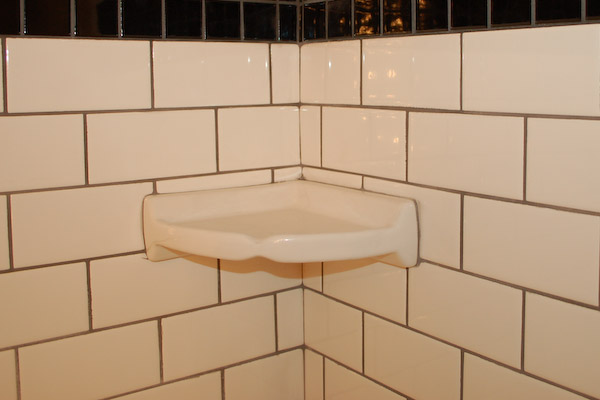 shower corner shelf install a tile soap