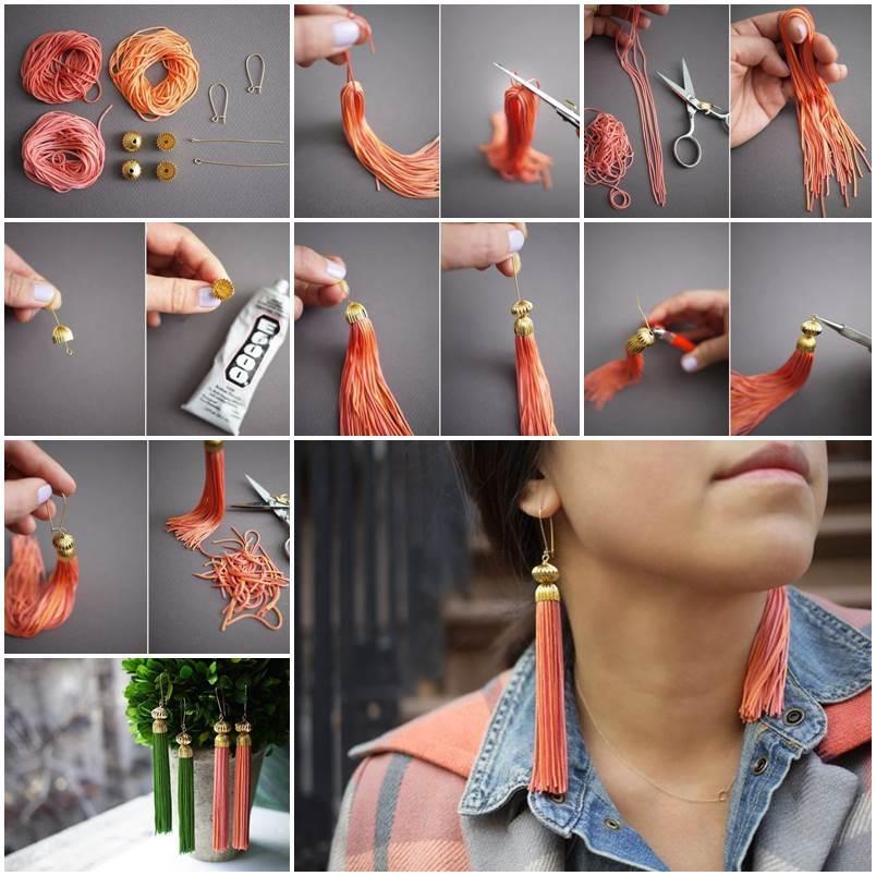 DIY Elegant Tassel Earrings
