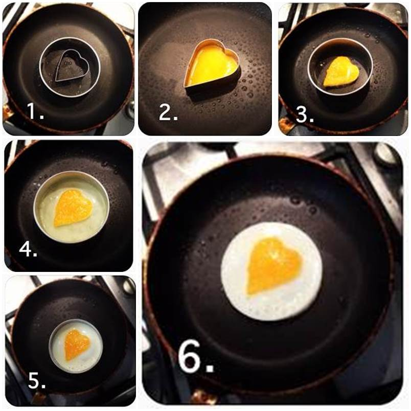 DIY Heart Shaped Fried Egg