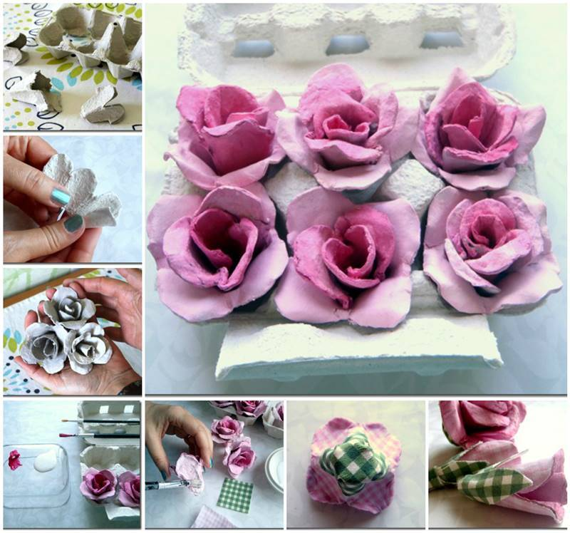 How To DIY Beautiful Flower Lights From Egg Cartons