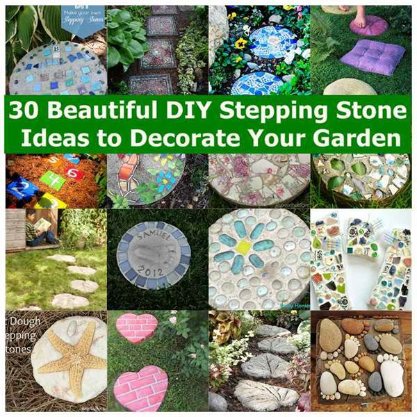 30 Beautiful DIY Stepping Stone Ideas to Decorate Your Garden