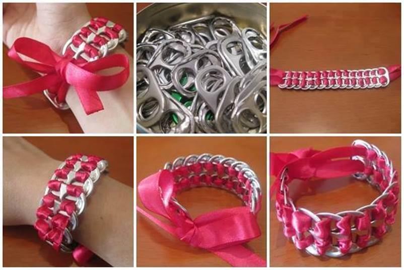 How To DIY Soda Can Pop Tab Bracelet