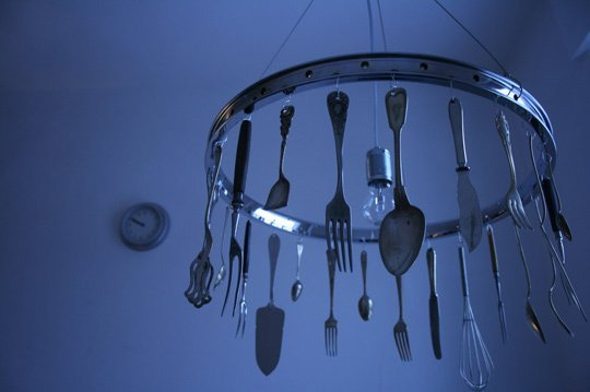 Creative Diy Kitchen Utensils Chandeliers