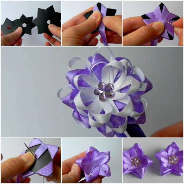 Como DIY Easy Ribbon Flower Bow