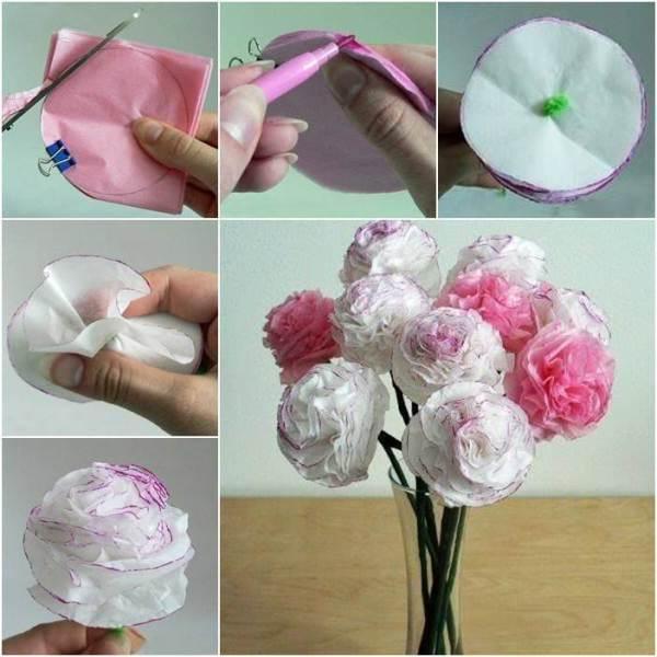 Tissue paper flower making step by step hamidgraphix creative ideas diy beautiful tissue paper flowers mightylinksfo
