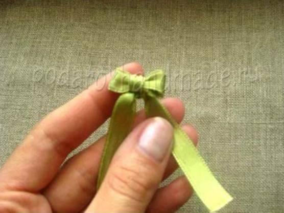 Idéias criativas - DIY cetim fita arco com uma forquilha 7