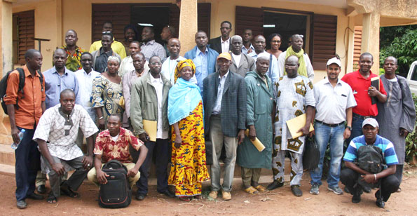 Participants at the Koutiala district Innovation Platform meeting. (Photo credit: ICRISAT / A Diama)