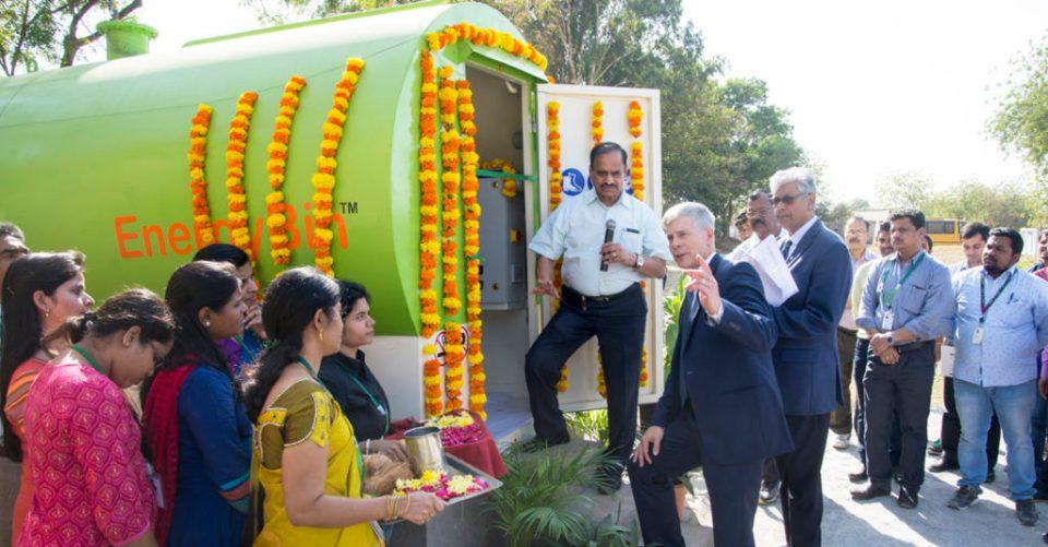 Inauguration of the biomass plant. Photo: S Punna, ICRISAT