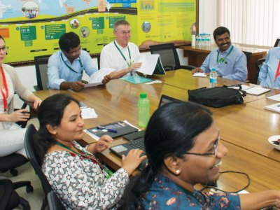 Project team members at the kick-off meeting. Photo: S Punna, ICRISAT