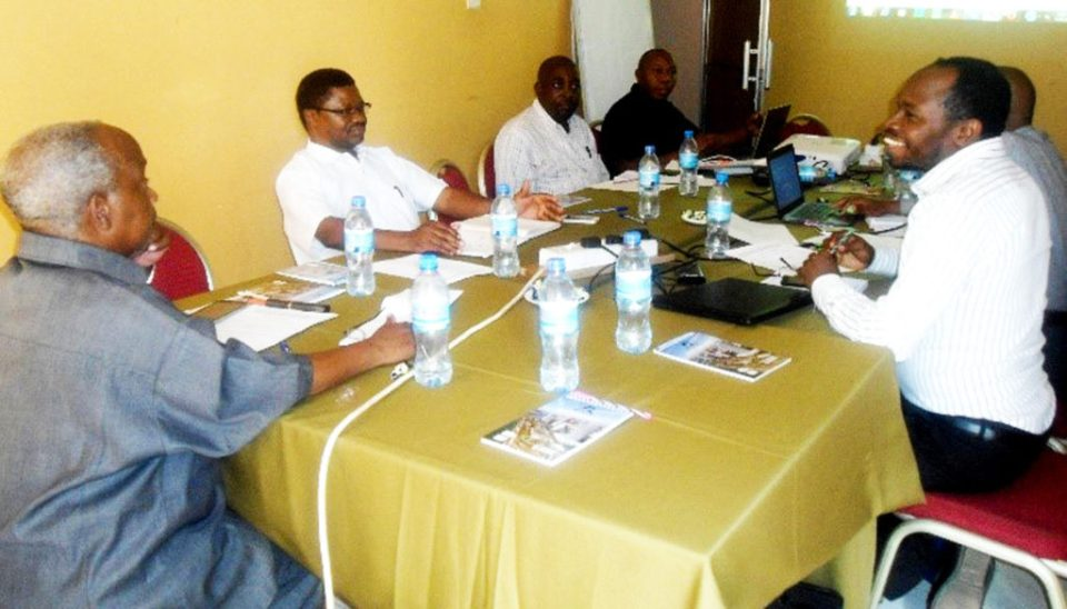 Basic seed planning meeting between ASA, NARI and ICRISAT members. Photo: H Daudi, NARI
