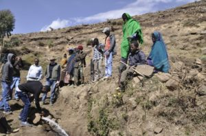 A gush of water brings hope to villagers