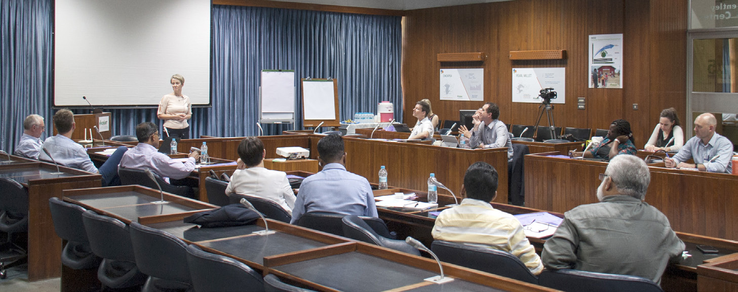 Participants at the workshop on 'Agri-food systems innovation: Reframing the conversation'. Photo: PS Rao, ICRISAT