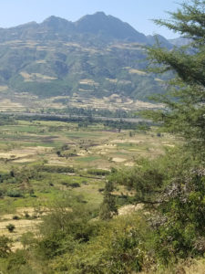 Site-specific nutrient management is important in the Ethiopian Highlands as the terrain and soil fertility varies widely within and between farms. Photo: T. Amede