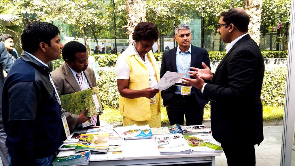 Charity Ngilu, Governor of Kitui County, Kenya (one of the Chief Guests at the Conclave) at the GLDC stall.