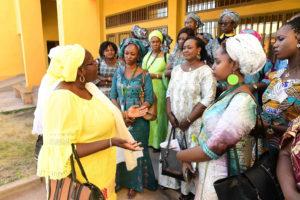 Women's Forum members at a children's center.