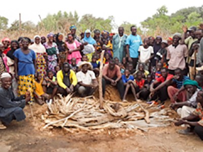 Heap and pit composting trials in Mali. Photo: Z Birhanu