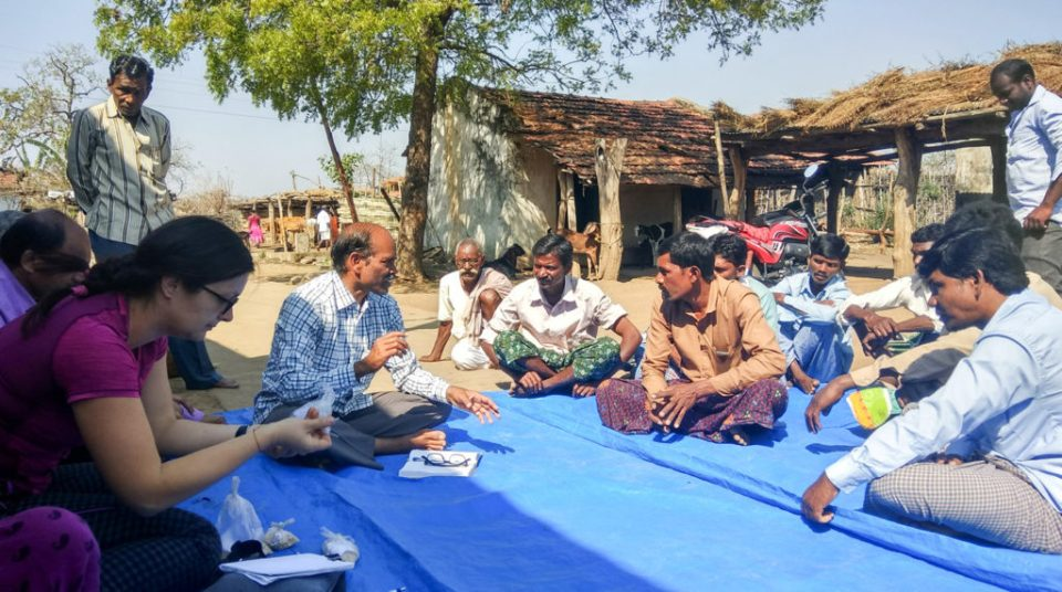 Exchanging information and views with local farmers, Adilabad District, Telangana. Photo: ICRISAT
