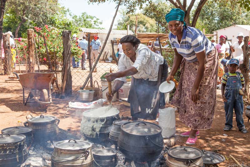 Sadza, made out of maize meal, is a staple food in Zimbabwe Photo: Swathi Sridharan,