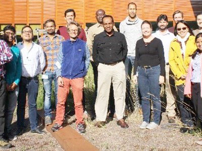 Participants take a break during the workshop. Photo: S Montañez, Excellence in Breeding, CGIAR