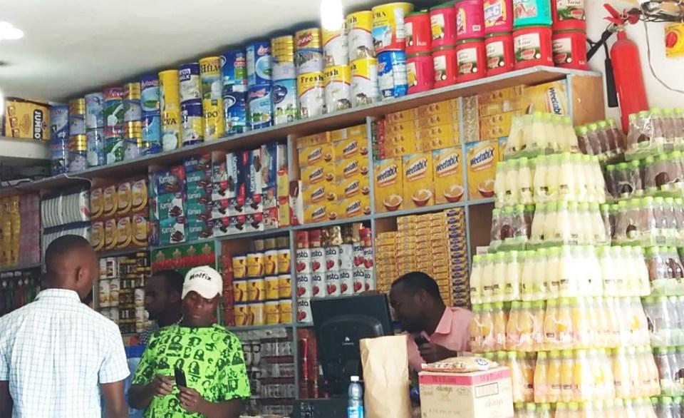 Local store with imported foods. Photo: Jayashree B, ICRISAT