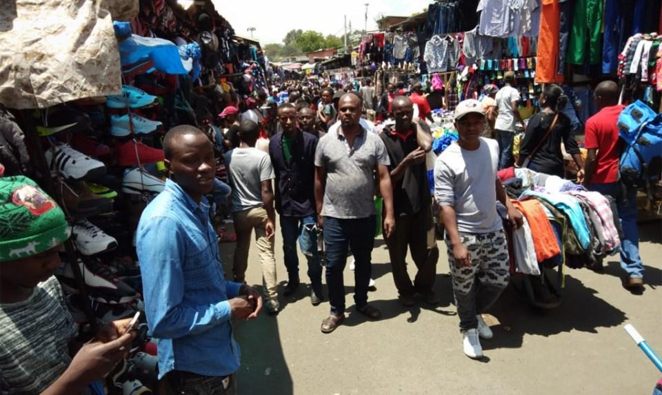 Street market, Majengo, Nairobi. Photo: Jayashree B, ICRISAT