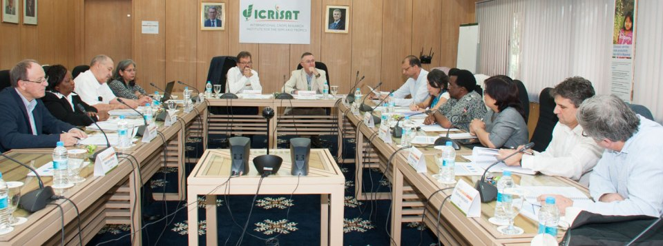 The joint meeting emphasized on the importance of strengthening partnerships. Photo: PS Rao, ICRISAT