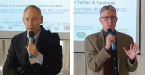 Dr Jeff Ehlers, Program Officer, Gates Foundation and Dr Jan Debaene, Global Head – Breeding, ICRISAT, addressing participants.