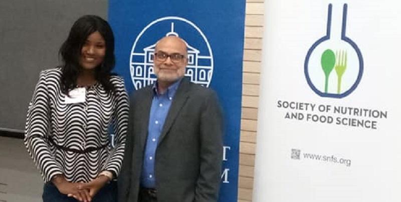 Prof Pingali and Ms Diama at the congress. Photo: ICRISAT