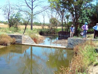 A watershed structure at Parasai-Sindh, Jhansi. Photo: ICRISAT