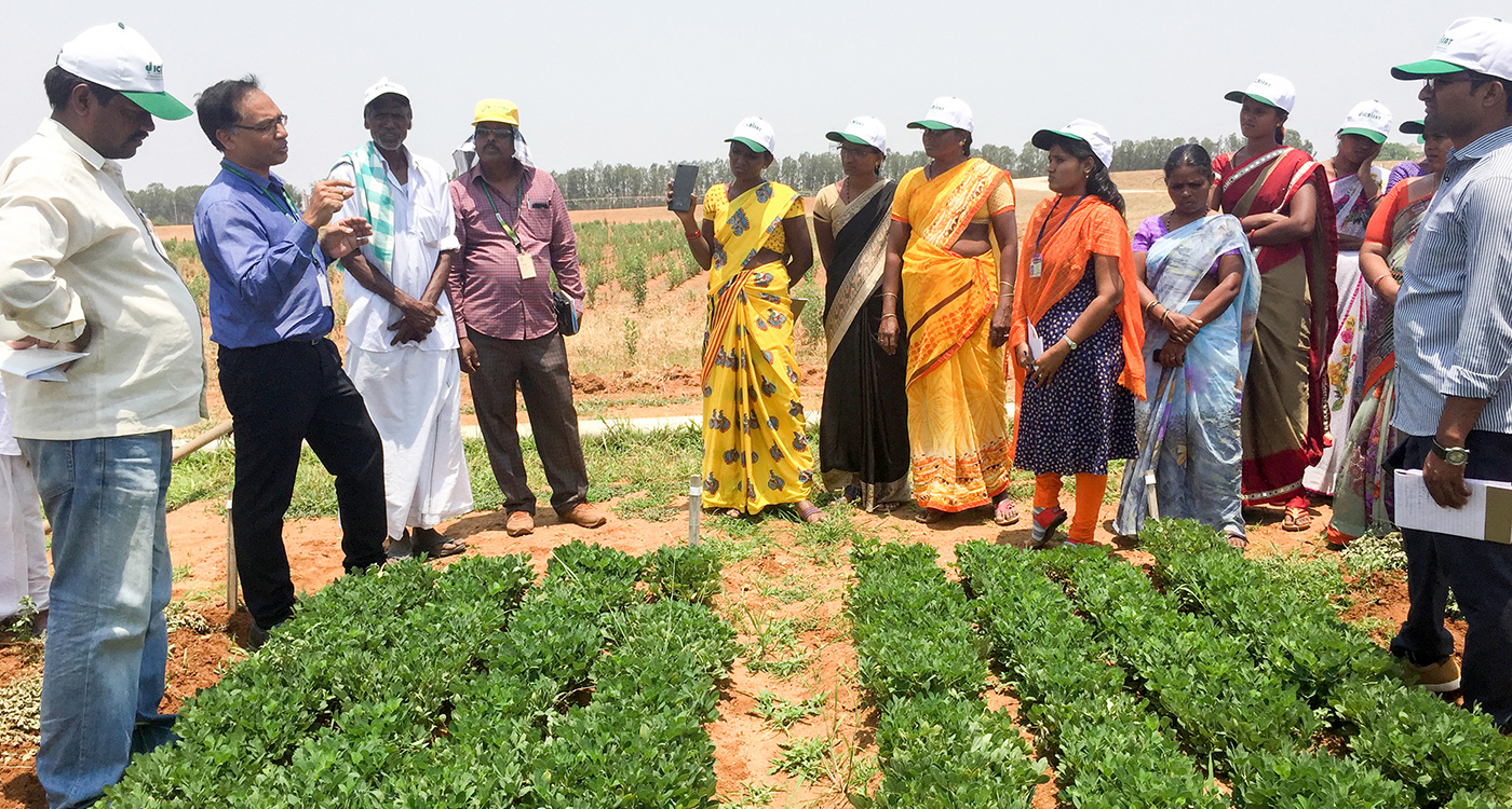 Prospective seed entrepreneurs at ICRISAT during the workshop. Photo: ICRISAT