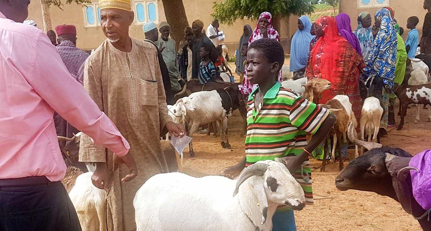 A farmer during Tabaski festivities this year in Niger. Photo: Clarisse Umutoni, ICRISAT