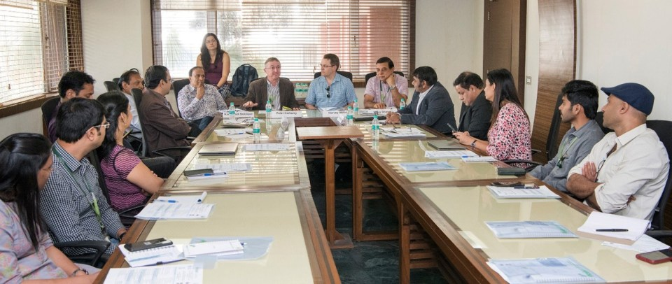Participants at project planning and second bilateral meeting of project 'Functional Genomics of Chickpea to enhance drought tolerance'. Photo: P Srujan, ICRISAT