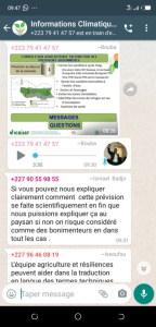 Screenshot from the WhatsApp group.