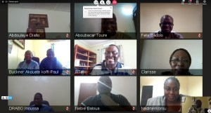 Screenshot of the launch meeting via videoconference Photo: M Magassa, ICRISAT