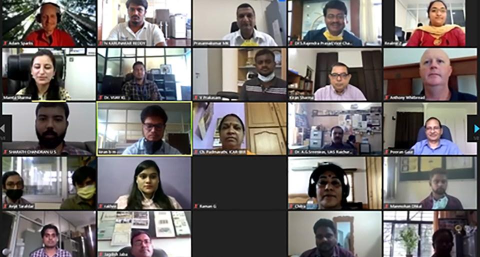 Screenshot of the workshop.
