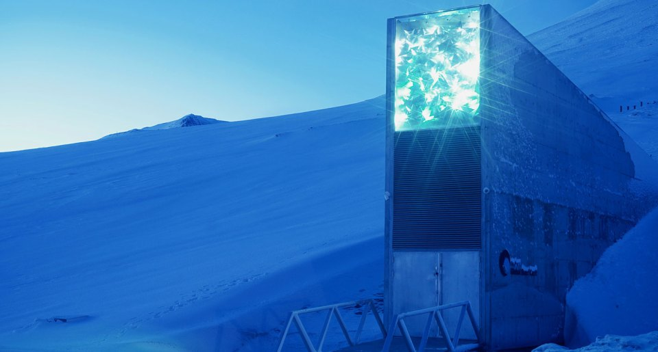 The Global Seed Vault in Svalbard. Photo: NordGen
