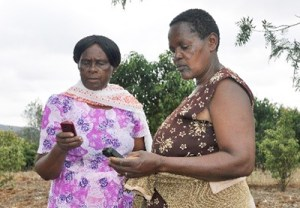 Women farmers from a self-help group in Kenya. Photo: J Kane-Potaka, ICRISAT