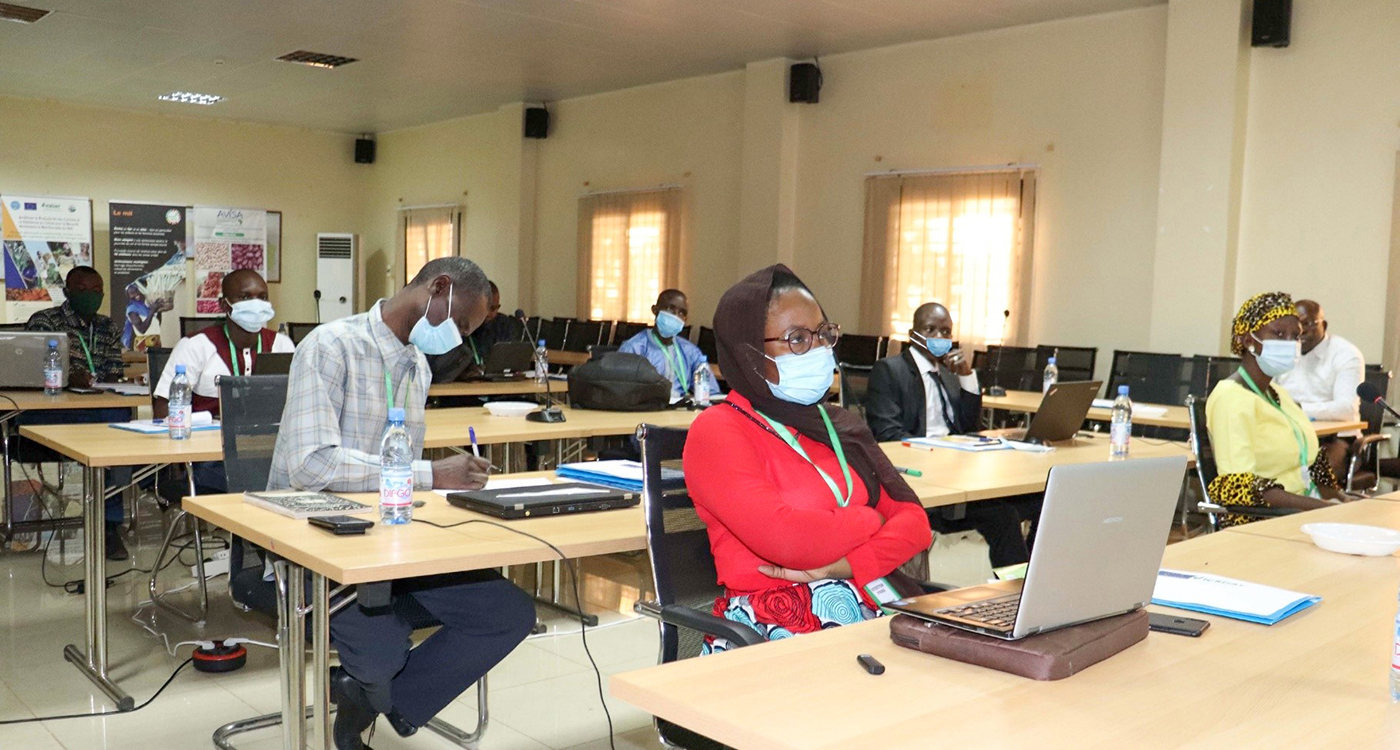 Participants at the crop modeling training session at ICRISAT-Mali. Photo: A Diama, ICRISAT